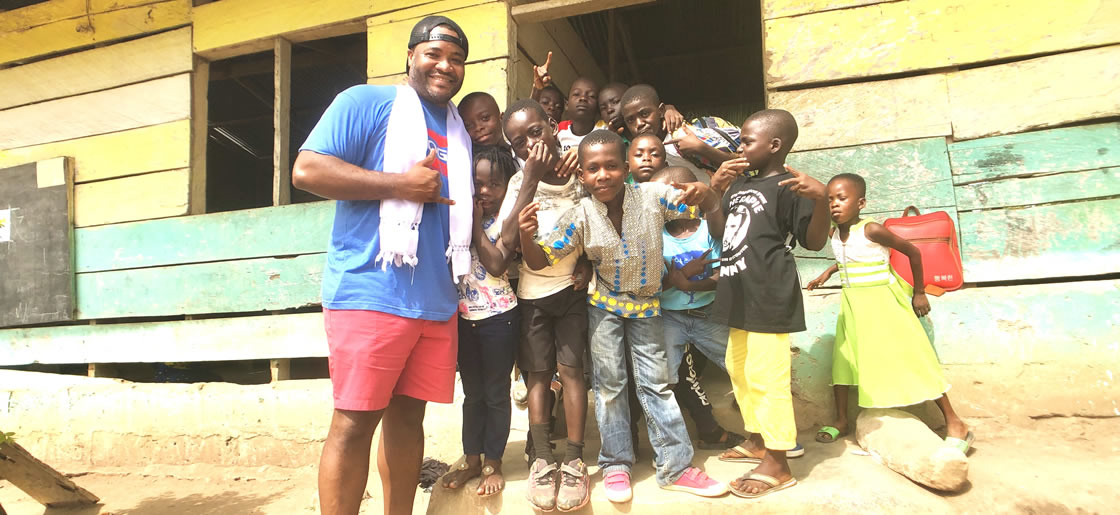 Philanthropic travel in Ghana, W. Africa